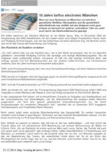 10 Jahre beflex electronic München