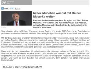 beflex München wächst mit Rainer Masurka weiter