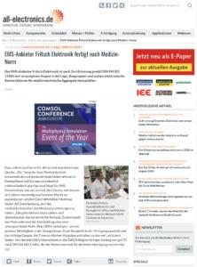EMS-Anbieter Fritsch Elektronik fertigt nach Medizin-Norm